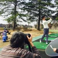 ゴルフコミック取材風景